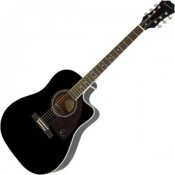 Epiphone AJ220SCE Solid Top Acoustic electric Ebony