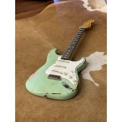 Fender Custom shop MB Yuriy Shishkov Stratocaster 59 Heavy relic Palissandre SURF GREEN