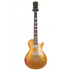 Gibson Custom Shop Les Paul Standard Gold Over Sunburst Aged NH